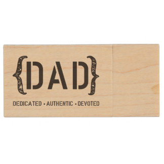 Dedicated DAD Thumb Drive Wood USB 3.0 Flash Drive