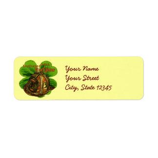 Dedicated Irish Firefighter address labels