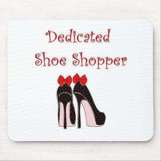 Dedicated Shoe Shopper Mouse Pad
