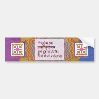 Dedication to GAYATRI Mantra - Artistic Background Bumper Sticker