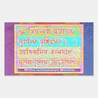 Dedication to MAHA-MRITUNJAY Mantra Rectangular Stickers