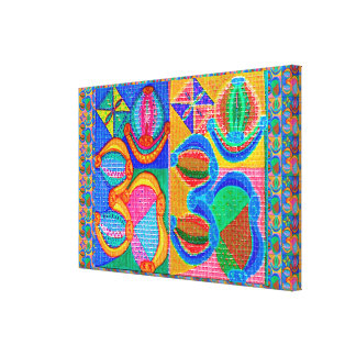 Dedication to OM MANTRA OmMantra Stretched Canvas Print