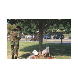 Dedication to our Fallen on September 11th. Canvas Print