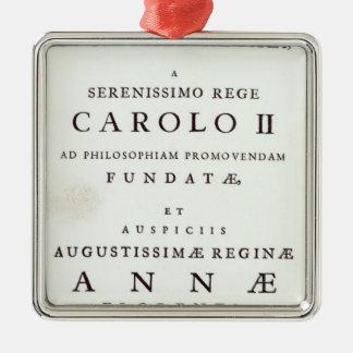 Dedication to the Royal Society Christmas Ornament