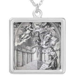 Dedicatory engraving to Gottfried Finger, 1688 Silver Plated Necklace