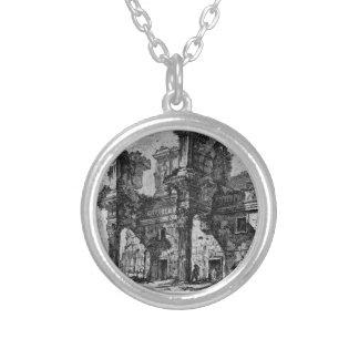 Dedicatory letter in italics italics round pendant necklace