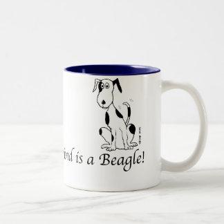 Deefa dog - My best friend is a Beagle Two-Tone Mug