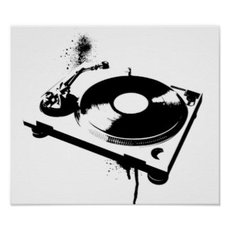 Deejay DJ Turntable Poster | House Music Gifts