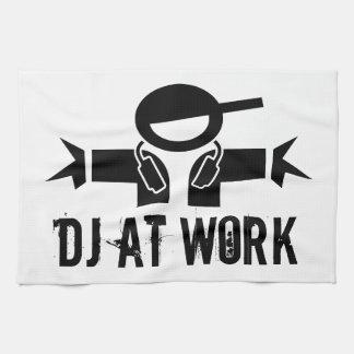 Deejay towel DJ gear with custom slogan