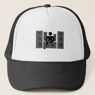 Deejay with Turntable and speakers Trucker Hat