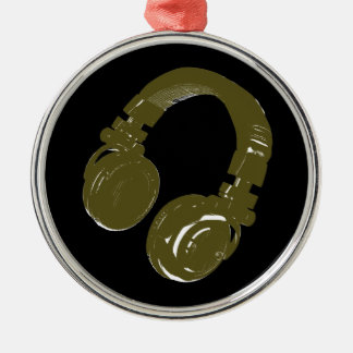 deejays headphone Silver-Colored round decoration