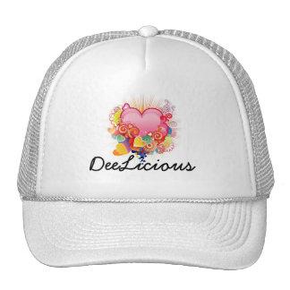 DeeLicious white heart hat