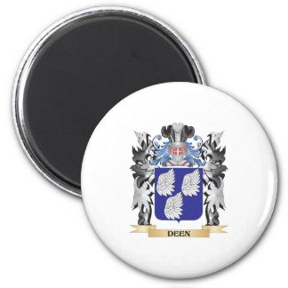 Deen Coat of Arms - Family Crest 6 Cm Round Magnet