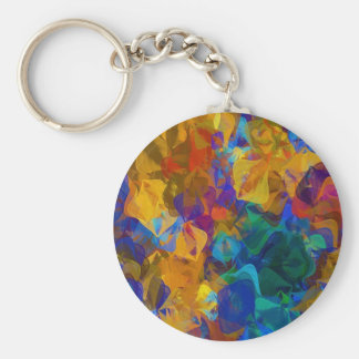 Deep Abstract Pattern Basic Round Button Key Ring