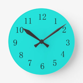 Deep Aqua Blue Kitchen Wall Clock