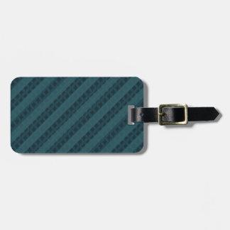 Deep Aqua Navy Blue Attractive Classy Pattern Bag Tag