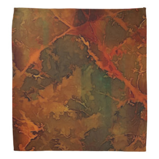 DEEP AUTUMN Rich Earthy Abstract Fall Bandana