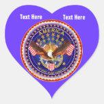 Deep Azure Heart Stickers