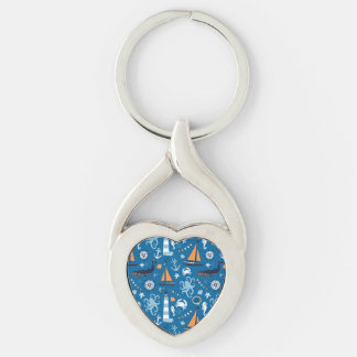 Deep Blue All Things Nautical Keychains