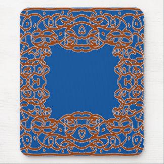 Deep Blue Bandanna mousepad