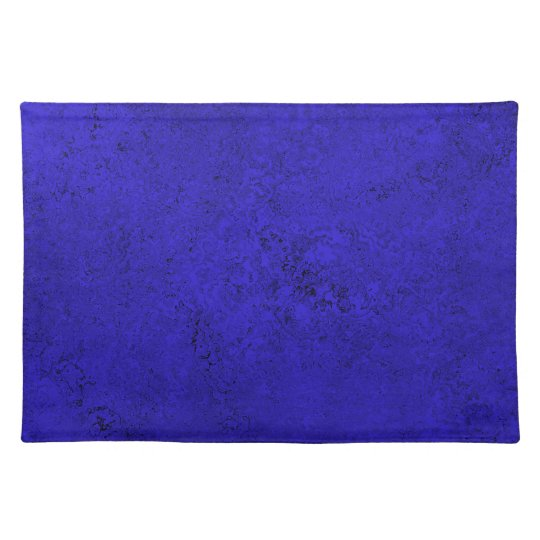 Deep Blue & Black Abstract Place Mats