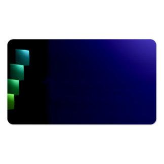 Deep Blue Black Modern Unusual Visual Biz Card Pack Of Standard Business Cards