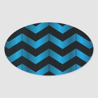 Deep Blue Chevron Sticker