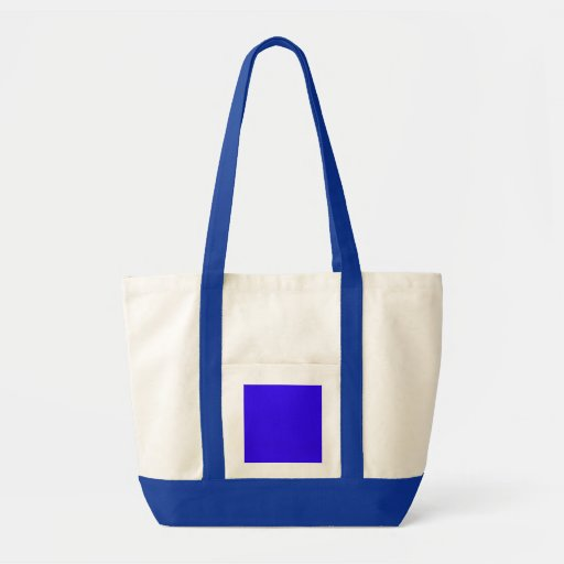 Deep Blue Color Only Custom Design Products Tote Bag