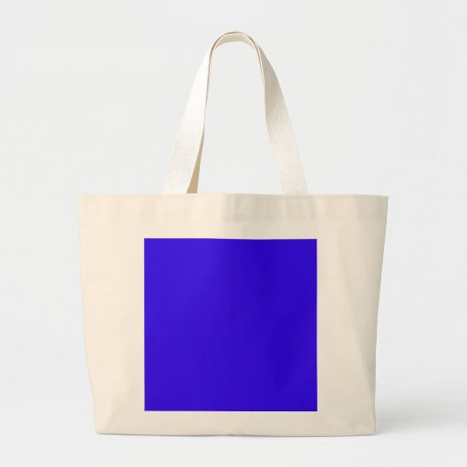 Deep Blue Color Only Custom Design Products Canvas Bags