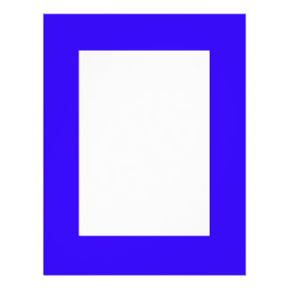 Deep Blue Color Only Custom Design Products Flyers