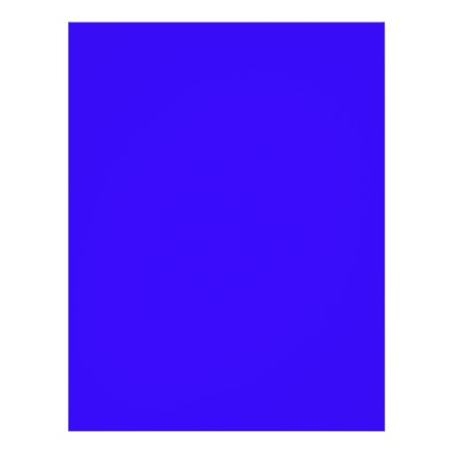 Deep Blue Color Only Custom Design Products Flyer