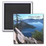 Deep Blue Crater Lake Oregon USA Travel Magnet