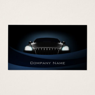 Deep Blue Curves Car Front Business Card