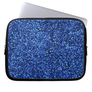 Deep Blue Glitter Laptop Sleeve