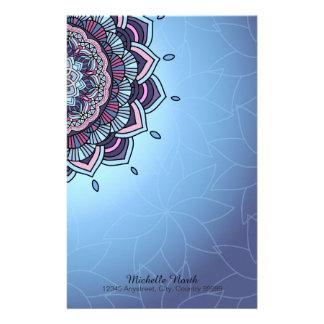 Deep Blue Glow Mandala ID361 Stationery Paper