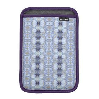 Deep Blue Iris Garden Rickshaw iPad Mini Sleeve