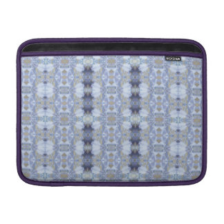Deep Blue Iris Garden Rickshaw Macbook Air Sleeve