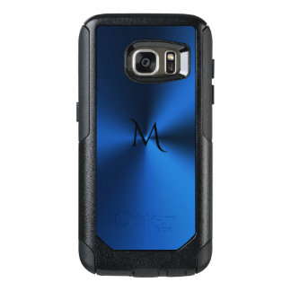 Deep Blue Monogram Metallic Otterbox Edge S7 Case