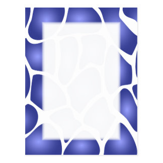 Deep Blue Random Mosaic Pattern Postcard