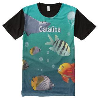 Deep Blue Sea All-Over Print T-Shirt