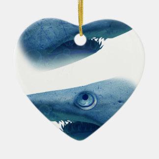 Deep Blue Sea Shark Animals Aqua Christmas Ornament