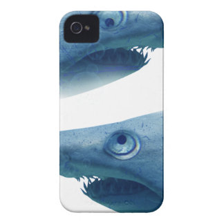 Deep Blue Sea Shark Animals Aqua iPhone 4 Case-Mate Case