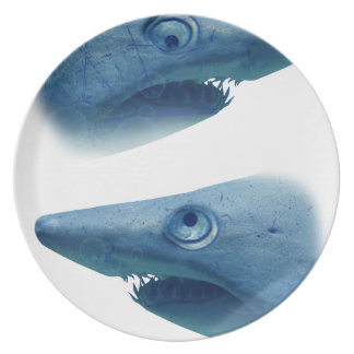 Deep Blue Sea Shark Animals Aqua Plate