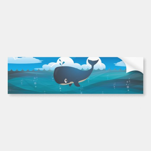 Deep Blue Sea Whale Bumper Stickers