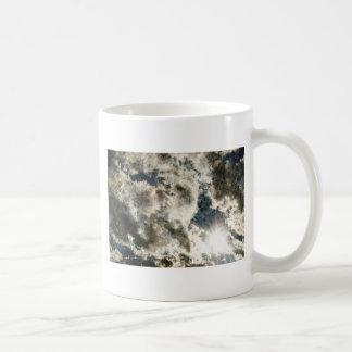 Deep blue skies billowing rolls of clouds basic white mug