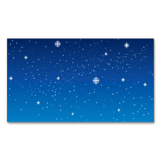 Deep Blue Starry Night Sky Magnetic Business Cards