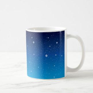 Deep Blue Starry Night Sky Classic White Coffee Mug