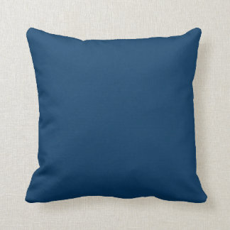 Deep Blue Steel Color Trend Background Throw Pillow