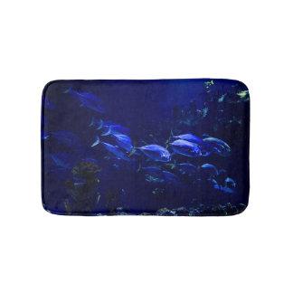 Deep Blue Undersea Tropical Fish Bath Mat