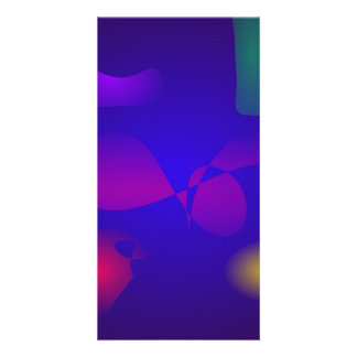 Deep Blue Unstable Abstract Composition Photo Card